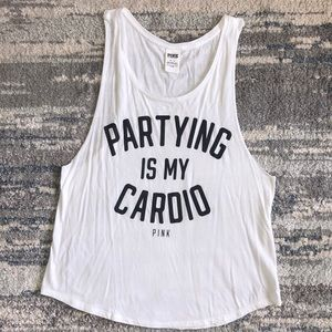 Partying Is My Cardio - PINK tank